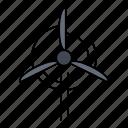 clean, energy, turbine, wind icon