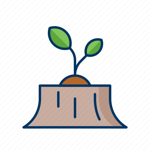 ecology, environment, forest, grow, nature, reforestation, seed icon
