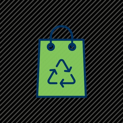 bag, disposal, ecology, environment, go green, recycle icon