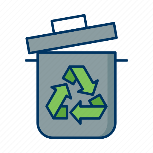 bin, dispose, ecology, environment, recycle, trash, waste icon
