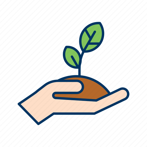 conservation, ecology, environment, grow, hand, seed, sprout icon