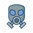biohazard, ecology, environment, hazardous, mask, radiation, toxic icon