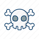 bone, cross, danger, environment, hazard, skull, warning icon