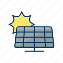 alternative, cell, ecology, energy, environment, solar panel, sun icon