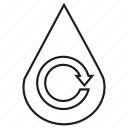arrow, drop, recycle, reserve, water icon