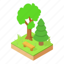 autumn, branch, christmas, forest, isometric, logo, object