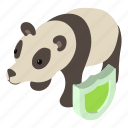 animal, face, head, isometric, logo, object, panda