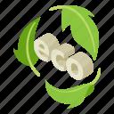 bio, ecology, green, isometric, leaf, logo, object