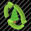 christmas, fir, isometric, logo, nature, object, tree