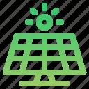 power, solar, panel, energy icon