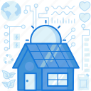 electricity, energy, home, house, panels, power, solar