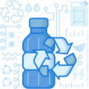 arrows, bottle, ecology, environment, plastic, recycle icon