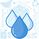 drops, ecology, leaf, nature, plant, water icon