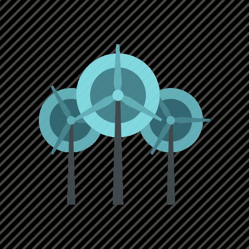 electricity, energy, environment, generator, power, turbine, wind icon