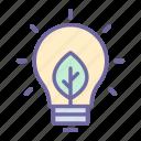 energy, ecology, green, bulb, light, leaf