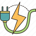 energy, electricity, power, charge, supply