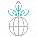 ecology, energy, global, growth, plant, power icon