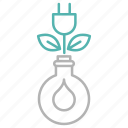 energy, green, growth, plant, power icon