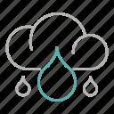 cloud, energy, power, rainy icon