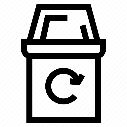 bin, ecology, recycle, trash icon