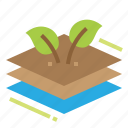 eco, ecology, material, plant icon