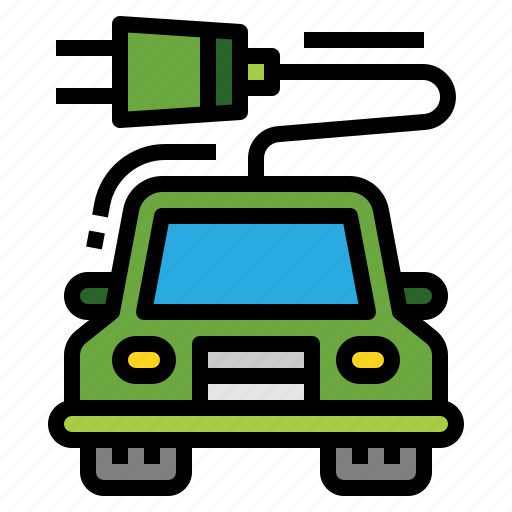 car, eco, ecology, electric icon