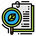 document, ecology, information, research icon