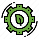 ecology, gear, leaf, service icon
