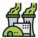 ecology, energy, factory, nuclear icon