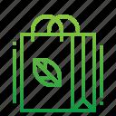 bag, cotton, ecology, green icon