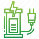 charge, charging, ecology, station icon