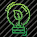 creative, green, idea, thinking icon