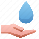 drop, hand, hold, water