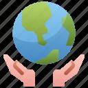 day, earth, environment, global, globe, hand, save