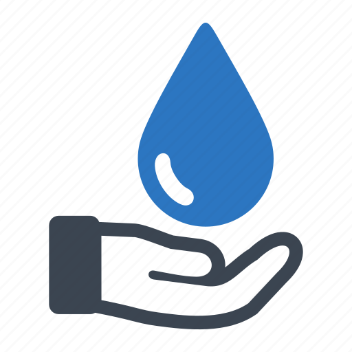 earth day, ecology, energy, hand, nature, water icon