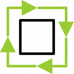box, ecology, recycle, square icon