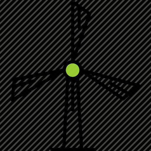 ecology, energy, nature, windmill icon