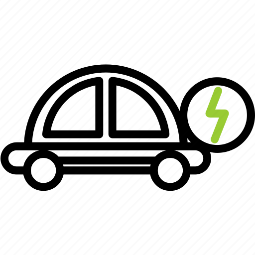 car, ecology, technology icon
