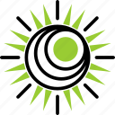 ecology, energy, sun icon