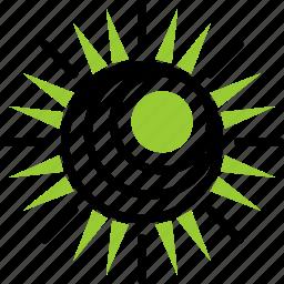ecology, energy, sun icon
