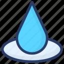 liquid, purified water, rain water, raindrop, water drop icon