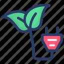bio electricity, bioenergy, eco energy, organic energy, renewable energy icon