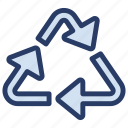 biodegradable, ecology, recycling symbol, reprocess, reuse icon