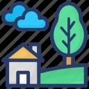 eco house homestead, farmhouse, home, house icon