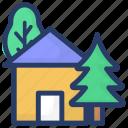 conservatory; glasshouse, greenhouse, hothouse, planthouse icon