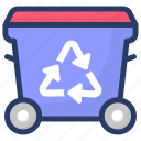 biodegradable, ecology, recycling, reprocess, reuse icon