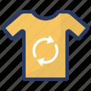cloth recycle, clothing, reusable shirt, shirt, tshirt icon