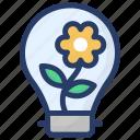 eco light, energy saving, green idea, green light, green power icon