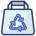 bag recycle, conservation, ecology, recycle, reuse icon