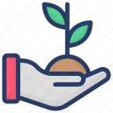cultivation, growing plant, plant conservation, plant protection, sapling icon